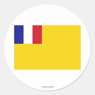 Drapeau d'Indochine français (1887-1954) Sticker Rond