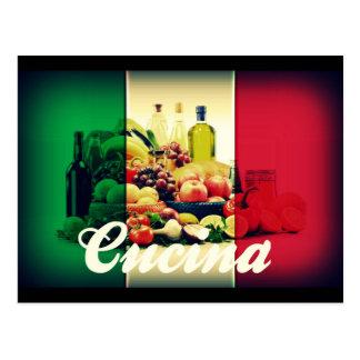 Drapeau d'Italien de Cucina Cartes Postales