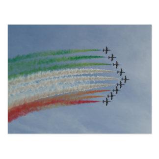 Drapeau d'Italien de Frecce Tricolori d'armée de Cartes Postales