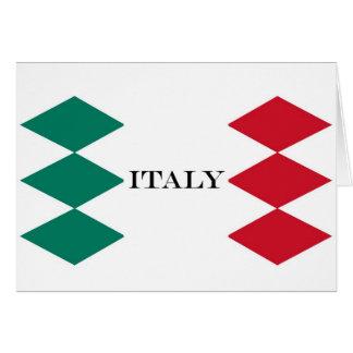 Drapeau d'Italien de l'Italie Carte De Vœux
