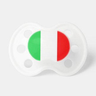 Drapeau d'Italien de tétine de bébé