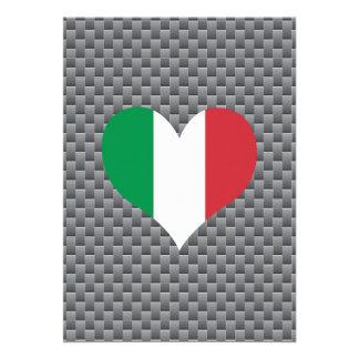 Drapeau d'Italien sur l'arrière - plan en métal
