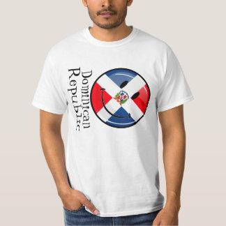 Drapeau dominicain rond brillant t-shirts