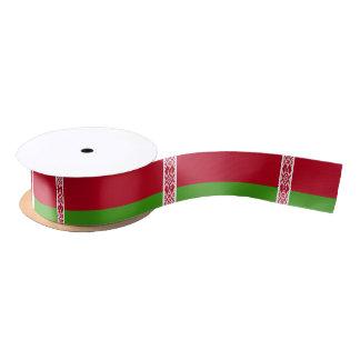 Drapeau du Belarus Ruban En Satin