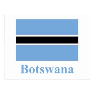 Drapeau du Botswana avec le nom Carte Postale