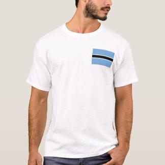 Drapeau du Botswana et T-shirt de carte
