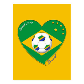 Drapeau du BRÉSIL FOOTBALL de champions du monde Carte Postale