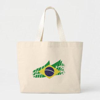Drapeau du Brésil stylé Grand Tote Bag