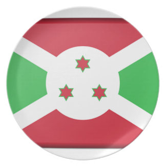 Drapeau du Burundi Assiette