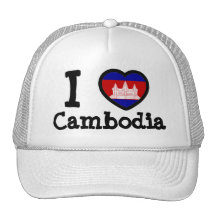 Drapeau du Cambodge Casquettes De Camionneur