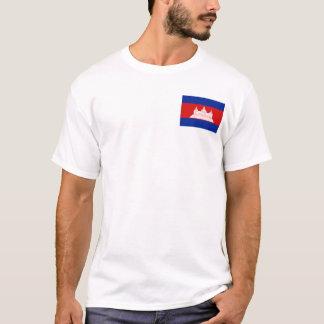 Drapeau du Cambodge et T-shirt de carte