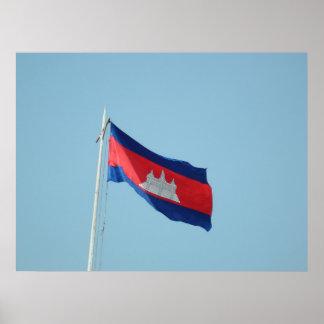 Drapeau du Cambodge Posters