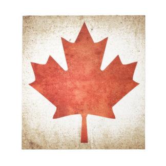 Drapeau du Canada (feuille d'érable) Bloc-note
