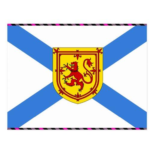 Drapeau du Canada la Nouvelle-Écosse Carte Postale | Zazzle