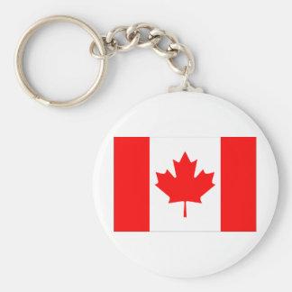 Drapeau du Canada Porte-clé Rond