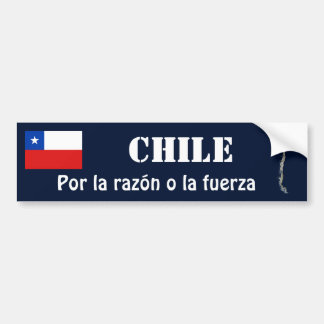 Drapeau du Chili + Adhésif pour pare-chocs de Autocollant Pour Voiture