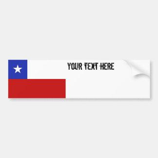 Drapeau du Chili Autocollant De Voiture