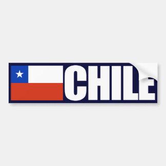 Drapeau du Chili Autocollant Pour Voiture