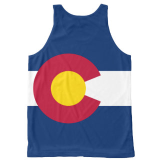 Drapeau du Colorado, drapeau d'état américain Débardeur Tout-imprimé