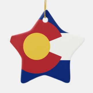 Drapeau du Colorado Ornement Étoile En Céramique