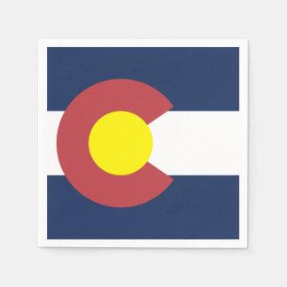 Drapeau du Colorado Serviettes Jetables
