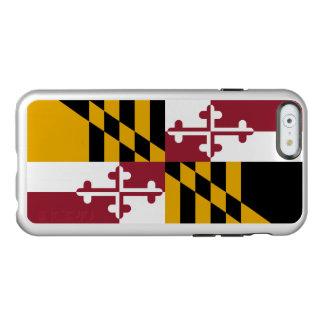 Drapeau du coque iphone argenté du Maryland Coque iPhone 6 Incipio Feather® Shine