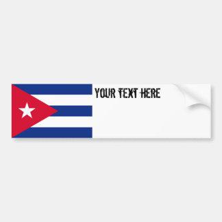 Drapeau du Cuba Autocollant Pour Voiture