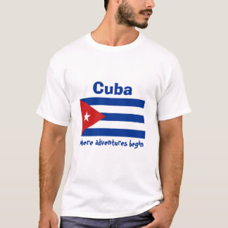 Drapeau du Cuba + Carte + T-shirt des textes