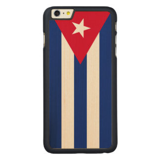 Drapeau du Cuba Coque Carved® En Érable Pour iPhone 6 Plus Case
