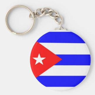 Drapeau du Cuba Porte-clé Rond