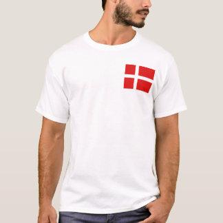 Drapeau du Danemark et T-shirt de carte