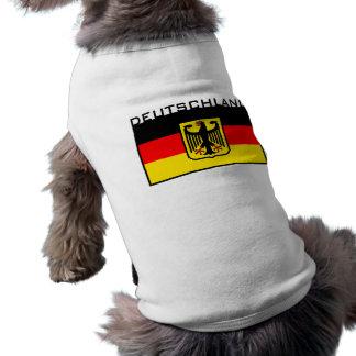 Drapeau du Deutschland T-shirt Pour Chien