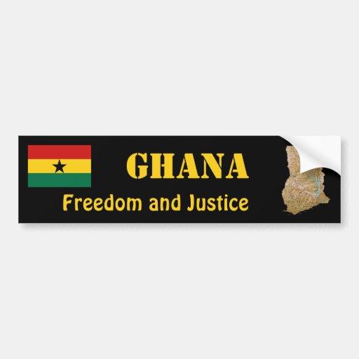 Drapeau du Ghana + Adhésif pour pare-chocs de cart Autocollants Pour Voiture