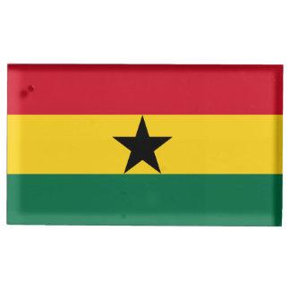 Drapeau du Ghana Porte-cartes De Table