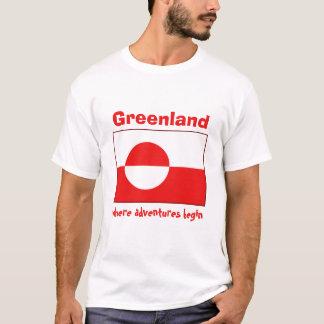 Drapeau du Groenland + Carte + T-shirt des textes