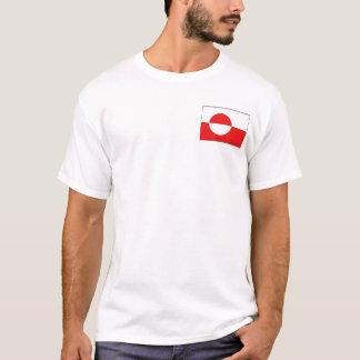Drapeau du Groenland et T-shirt de carte