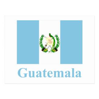 Drapeau du Guatemala avec le nom Carte Postale