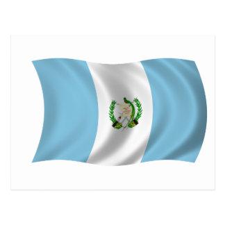 Drapeau du Guatemala Carte Postale