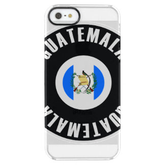 Drapeau du Guatemala simple Coque iPhone Clear SE/5/5s