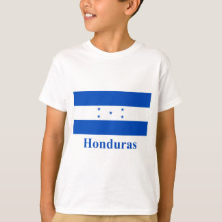 Drapeau du Honduras avec le nom T-shirt