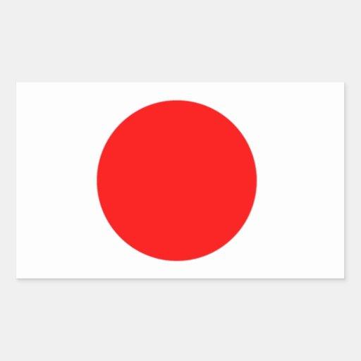 Drapeau du Japon Stickers Rectangulaires