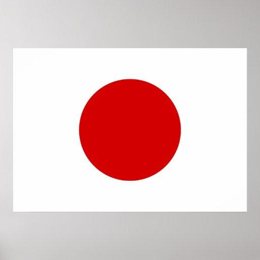 Drapeau du japon posters zazzle - Drapeau du japon a colorier ...