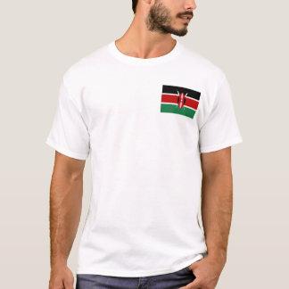 Drapeau du Kenya et T-shirt de carte