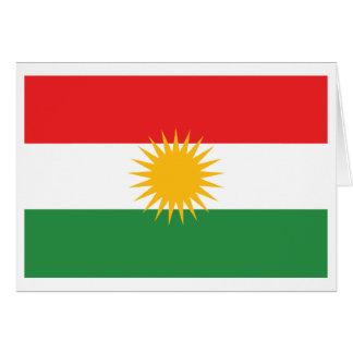 Drapeau du Kurdistan Carte De Vœux