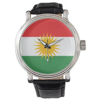 Drapeau du Kurdistan Montres Cadran