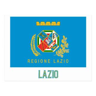 Drapeau du Latium avec le nom Cartes Postales