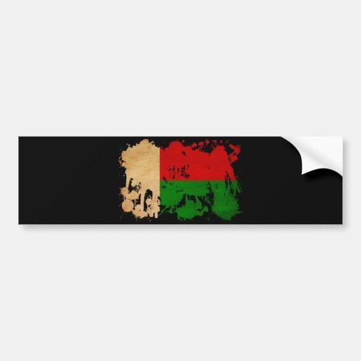 Drapeau du Madagascar Autocollants Pour Voiture