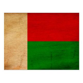 Drapeau du Madagascar Carte Postale
