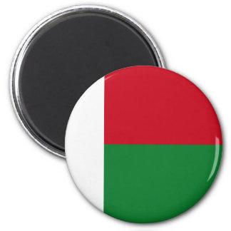 Drapeau du Madagascar Magnet Rond 8 Cm