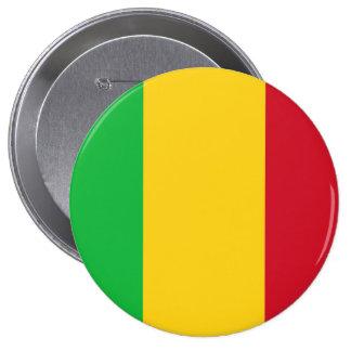 Drapeau du Mali Badge Rond 10 Cm